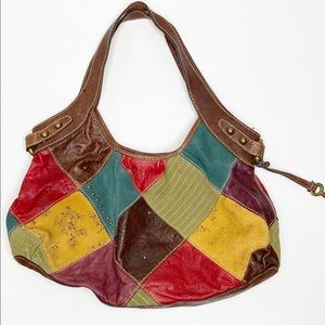 Fossil Patchwork Leather Bag